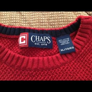 Chaps bright red men's sweater size xl. NWOT